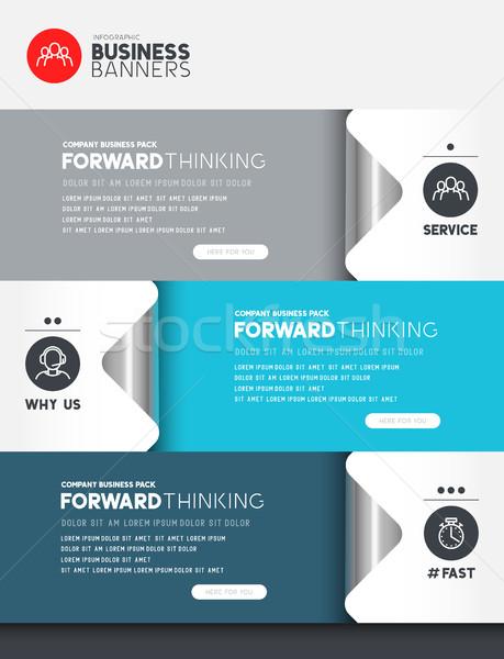 üzlet infografika elemek szoba elrendezés szöveg Stock fotó © solarseven