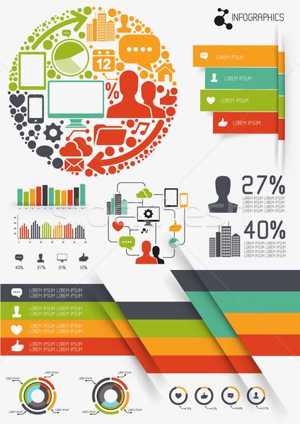 Vector Infographics Stock photo © solarseven