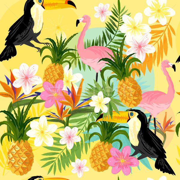 Tropical Seamless Pattern Stock photo © solarseven
