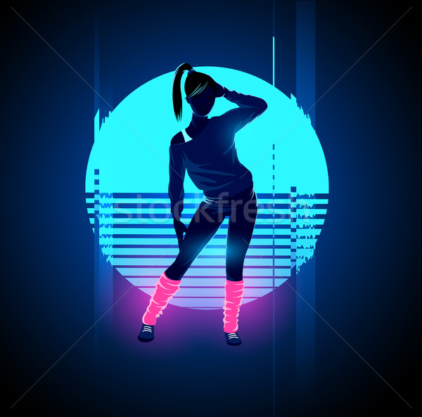 Retro 1980's Glitch Dancer Stock photo © solarseven