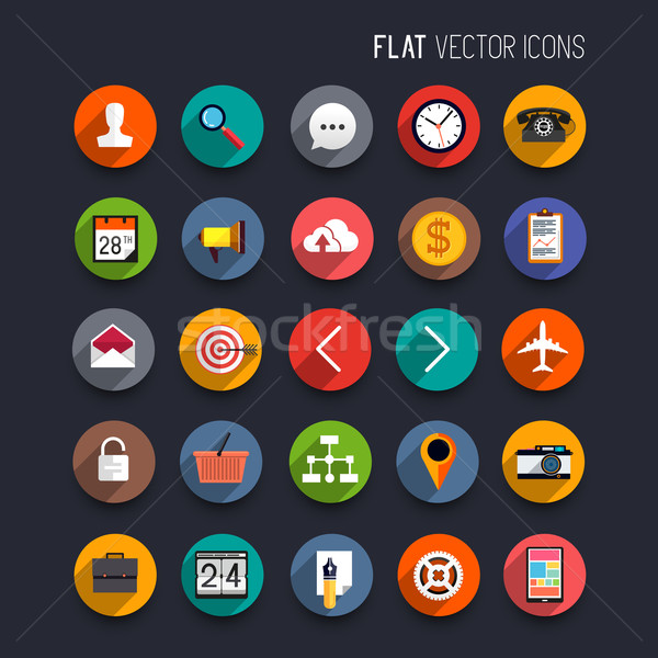 Flat Vector Icons Stock photo © solarseven