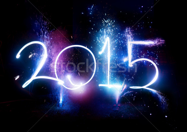 2015 Fireworks party - New Year Display!  Stock photo © solarseven