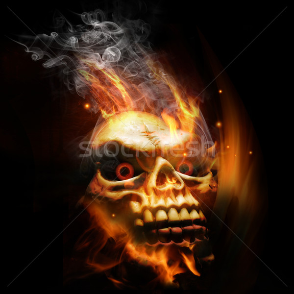 Burning Skull Stock photo © solarseven