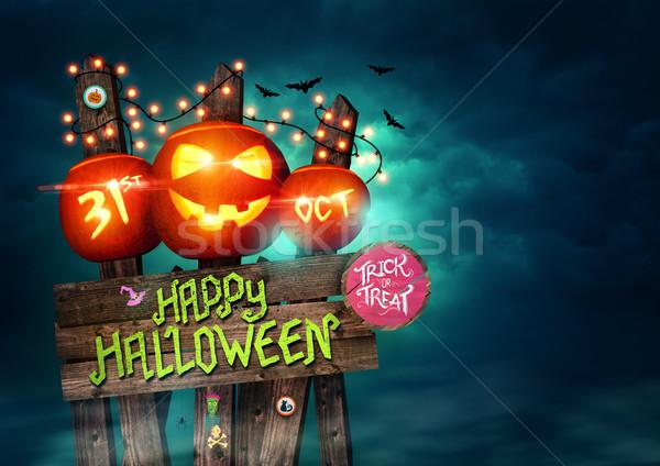 Stock photo: Happy Halloween Sign