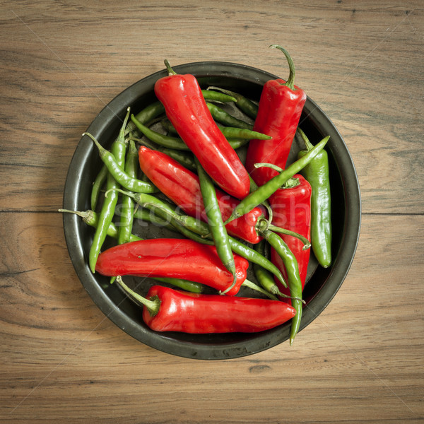Fresh Chili Pepper Selection Stock photo © solarseven