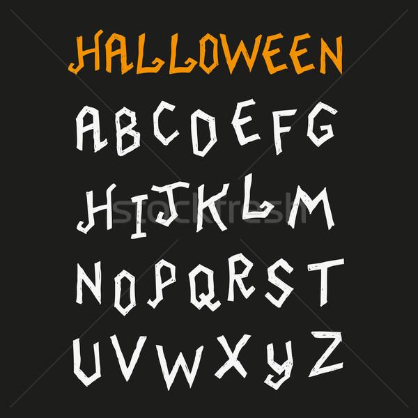 Hand Drawn Halloween Font Stock photo © solarseven