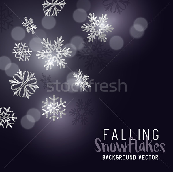 Falling Winter Snowflakes Stock photo © solarseven