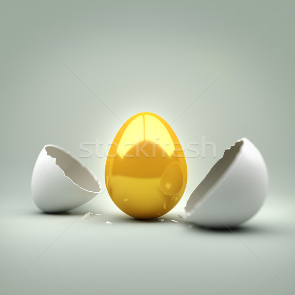 New Golden Egg Stock photo © solarseven