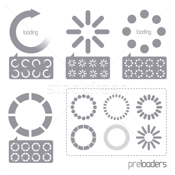 Web 2.0 Vector Progress Loader Icons Stock photo © solarseven