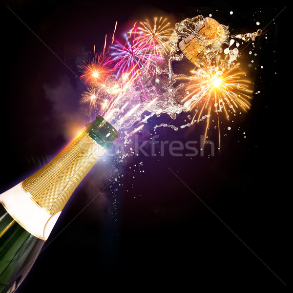 Champagne & Fireworks Celebrations Stock photo © solarseven