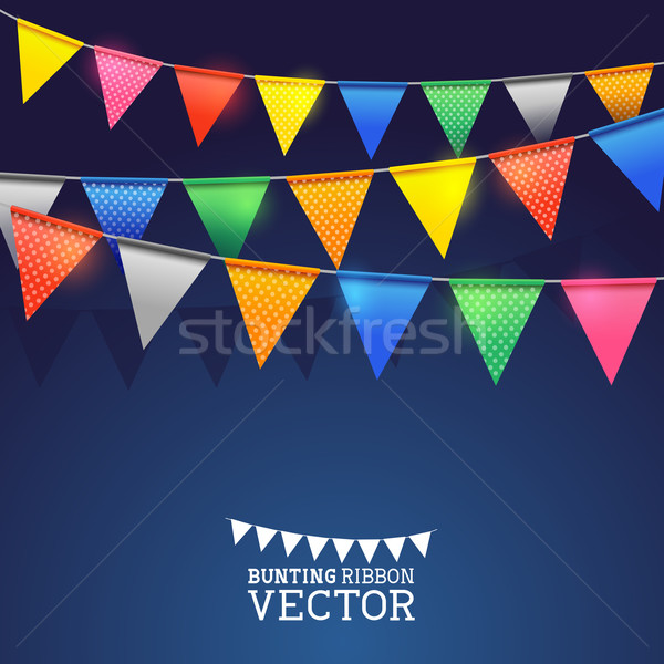 Festival Bänder Geburtstag Hintergrund Flagge Spaß Stock foto © solarseven