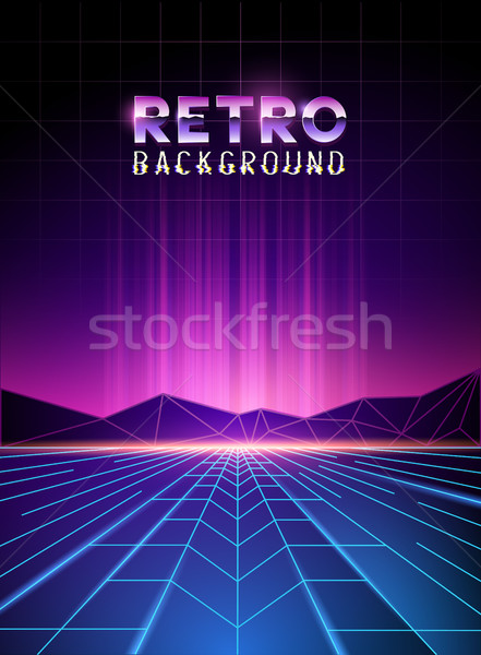neon horizon background Stock photo © solarseven