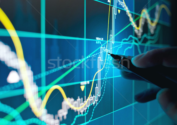 Trading Online Stocks and Shares Stock photo © solarseven