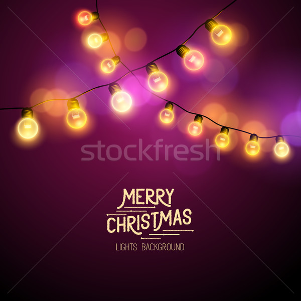 Christmas Fairy Lights Stock photo © solarseven