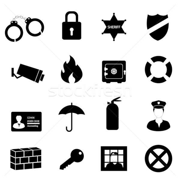 Bezpieczeństwa bezpieczeństwa kluczowych policji czarny Zdjęcia stock © soleilc