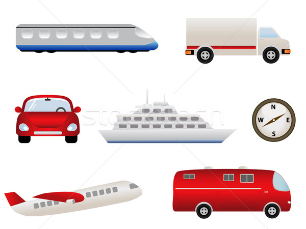Transportation related icons Stock photo © soleilc