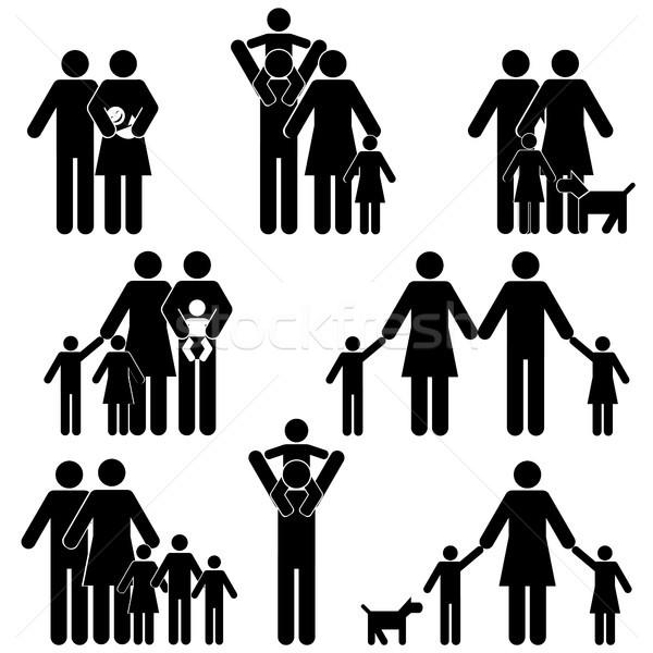 семьи дети девушки человека ребенка Сток-фото © soleilc