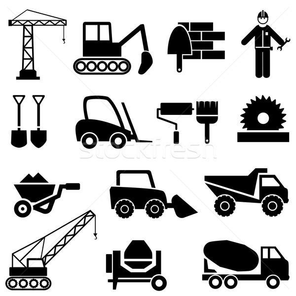 建設 産業 機械 アイコン デザイン ストックフォト © soleilc