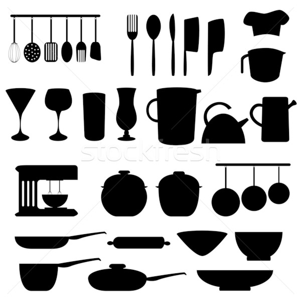 Kitchen utensils and tools Stock photo © soleilc
