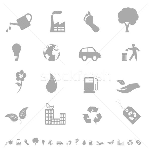 Eco icon set Stock photo © soleilc