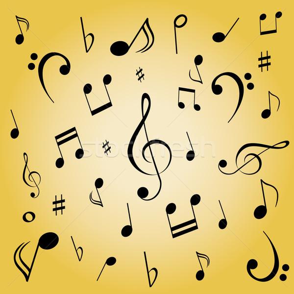 Note musicali note musicali musica suono spartiti illustrazione Foto d'archivio © soleilc