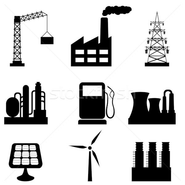 Stock fotó: Ipari · épületek · különböző · szerszámok · ipar · olaj