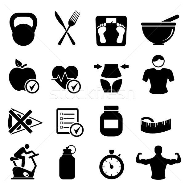 диета фитнес Здоровый образ жизни сердце здоровья Сток-фото © soleilc