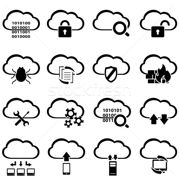 Big data and cloud computing Stock photo © soleilc
