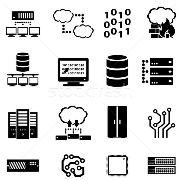 Computer, data and cloud computing Stock photo © soleilc