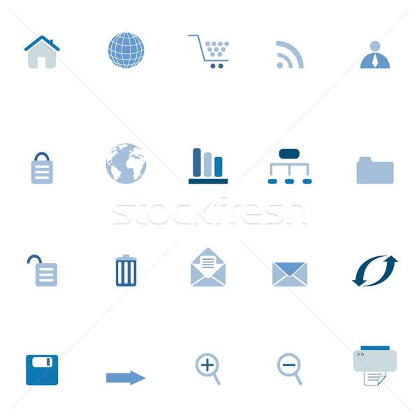 Internet, e-commerce, web icons Stock photo © soleilc