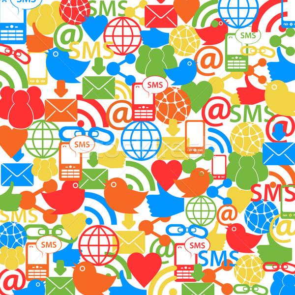 Symbolika działalności świecie technologii telefon Zdjęcia stock © soleilc