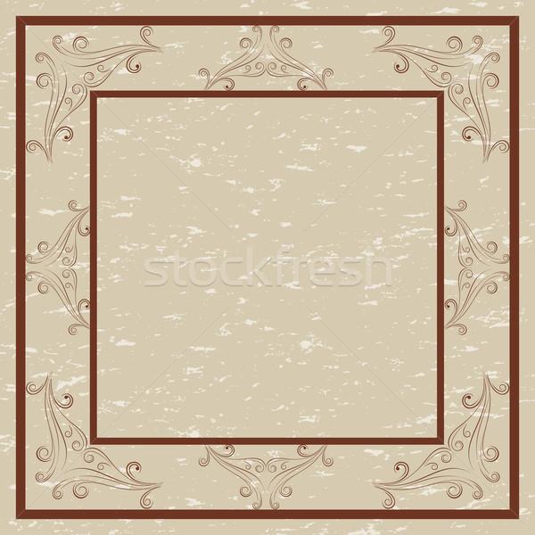 Decorative border and frame Stock photo © soleilc