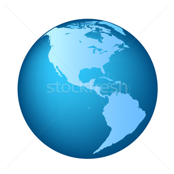 Globe with Americas Stock photo © soleilc