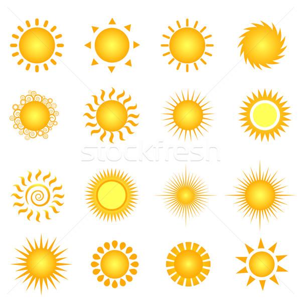Yaz güneş beyaz çizim Stok fotoğraf © soleilc