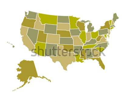 United States Map Stock photo © soleilc
