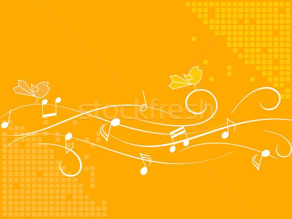 énekel madarak zene hang énekes kotta Stock fotó © soleilc