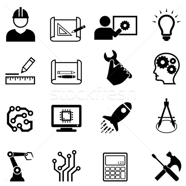 Engineering and design web icons Stock photo © soleilc