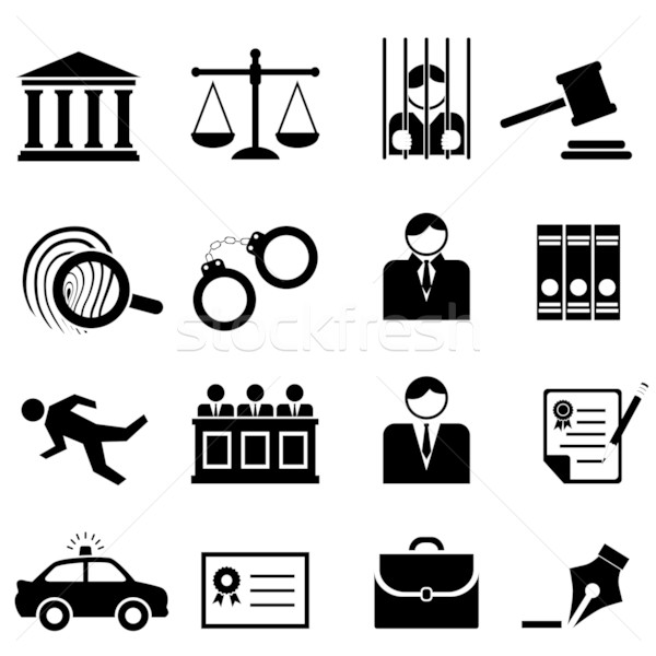 Legal, law and justice icons Stock photo © soleilc