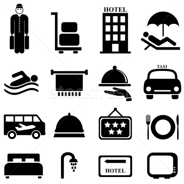 Hotel and hospitality icons Stock photo © soleilc