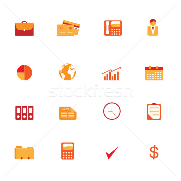 Business symbols icon set Stock photo © soleilc