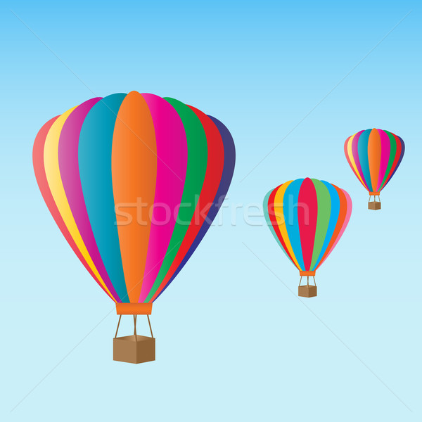 Stock photo: Hot air balloons at the festival