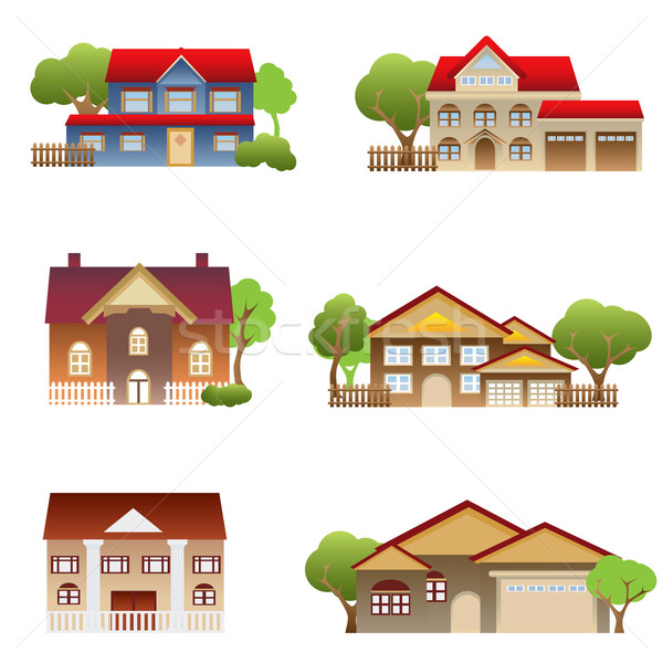 Various houses Stock photo © soleilc
