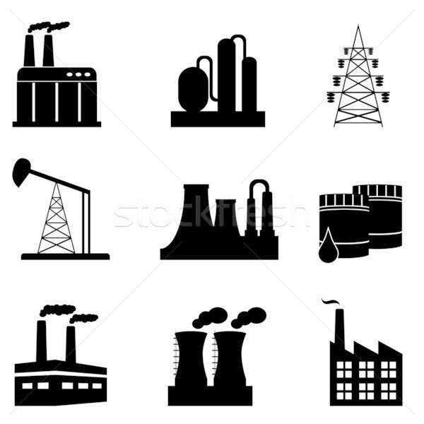 Industrial icon set Stock photo © soleilc