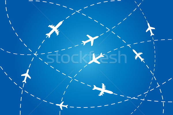 Planes navigating on air Stock photo © soleilc