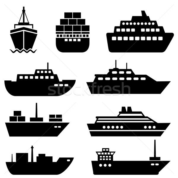 судно лодка иконки путешествия скорости Сток-фото © soleilc
