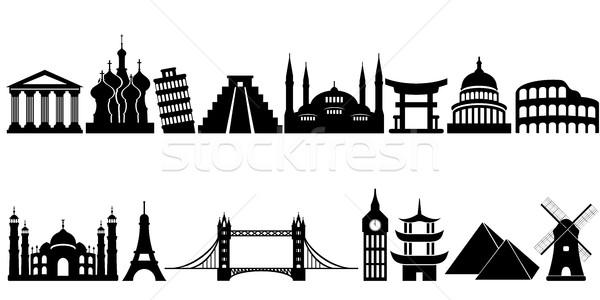 Mundo famoso viaje monumentos turismo gráfico Foto stock © soleilc