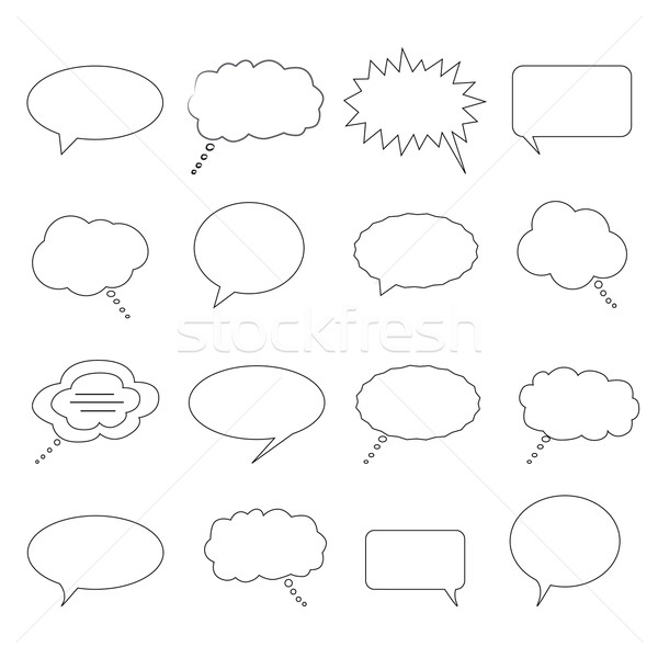 Speech and thought bubbles Stock photo © soleilc