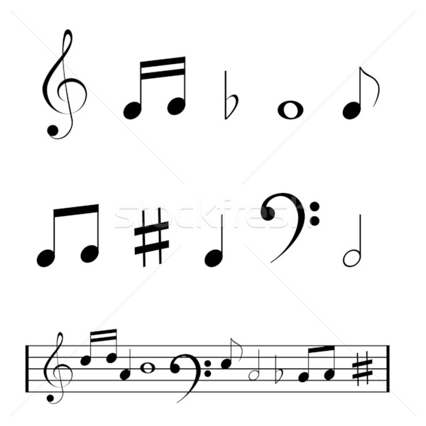 Musical Notes Stock photo © soleilc