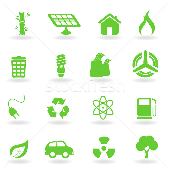 écologique environnement symboles environnement maison Photo stock © soleilc
