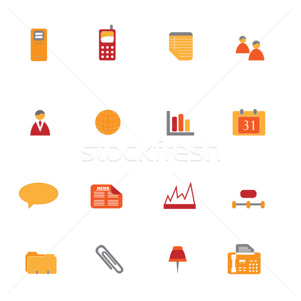 Business Icon Set Stock photo © soleilc